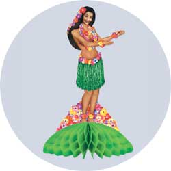 hula girl centerpiece